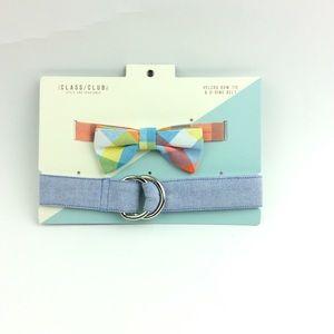 The Class Club Velcro Bow Tie D Ring Belt